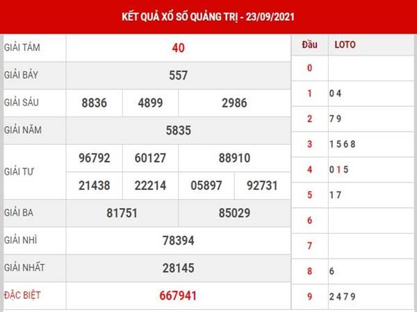 Thống kê SX Quảng Trị ngày 30/9/2021 thứ 5